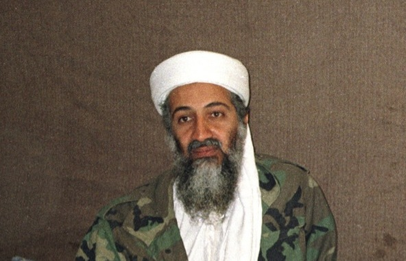Osama bin Laden's image was on display at Leeds United's Elland Road stadium