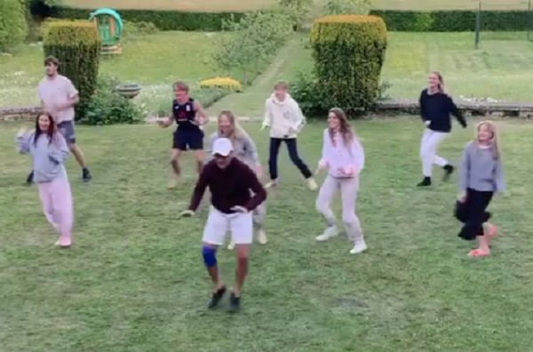 Tony Adams and family recreate tactics dance he did at Granada
