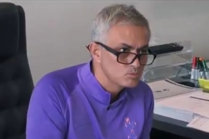 José Mourinho switches off TV after hearing criticism of his appointment in Spurs documentary series scene
