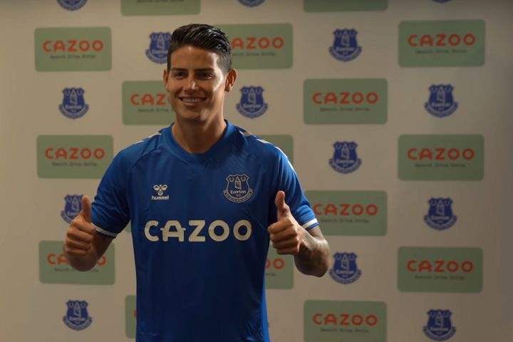James Rodríguez inspired the sale of blue Coca Cola cans in Colombia by signing for Everton