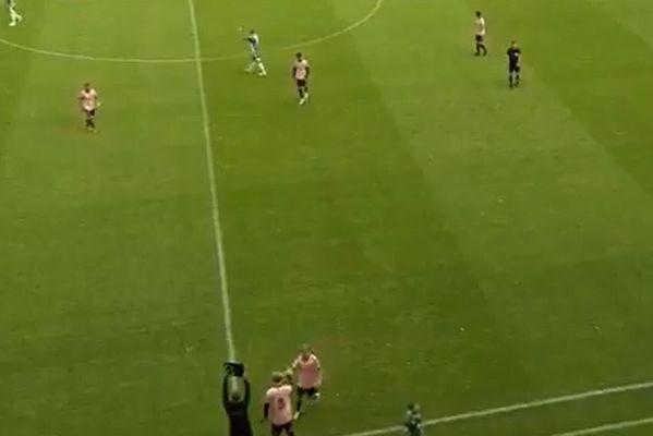 Estonian side Nõmme Kalju make substitution after 13 seconds during game at Levadia