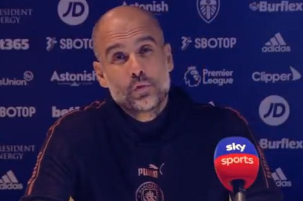 Man City boss Pep Guardiola asks what 'absolutely buzzing' means