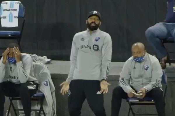 Thierry Henry wears mic during Montreal Impact vs Nashville