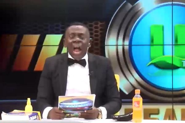 Ghanaian television personality Akwasi Boadi reads out Premier League scores
