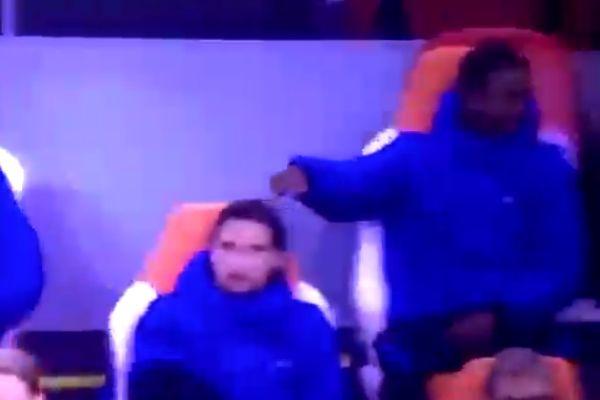 Georginio Wijnaldum left hanging by Memphis Depay during Holland vs Spain friendly