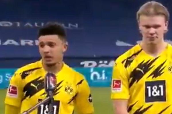 Jadon Sancho speaks in German accent after Schalke 0-4 Dortmund