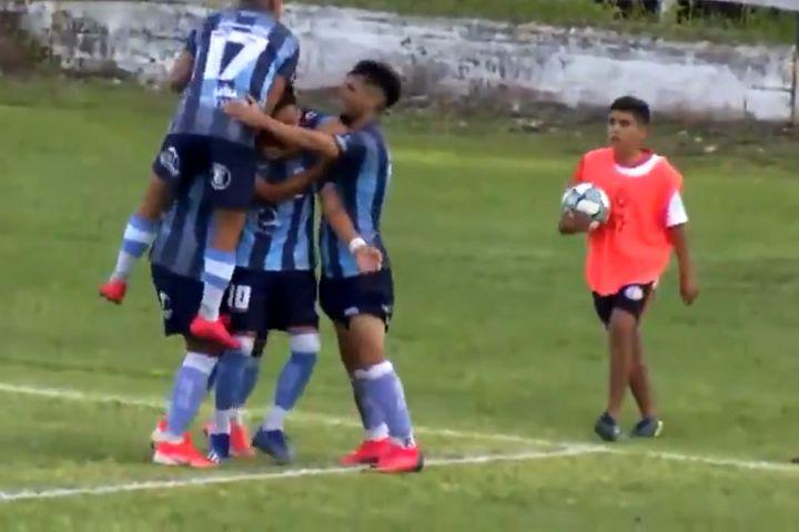 Altos Hornos Zapla ball boy spits on Gimnasia y Tiro players as they celebrate goal
