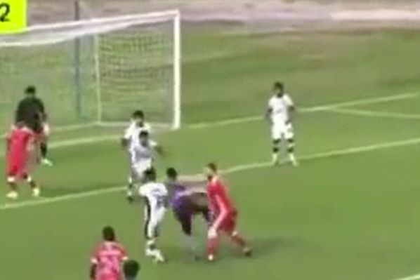 Kelantan player shoves referee over during defeat to PKNP