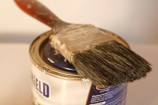 Not the paint brush used to redraw the half-way line at Progreso vs Peñarol