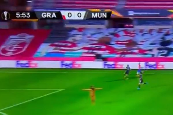 Naked man interrupts Europa League match between Granada and Manchester United