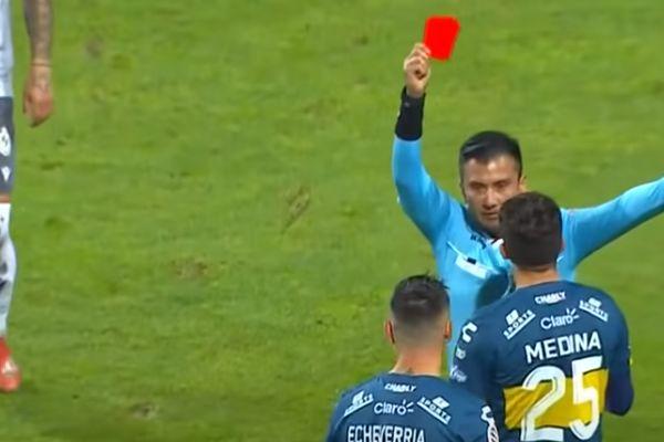 Second of three red cards for Everton de Viña del Mar in opening half hour of 0-1 defeat to La Serena