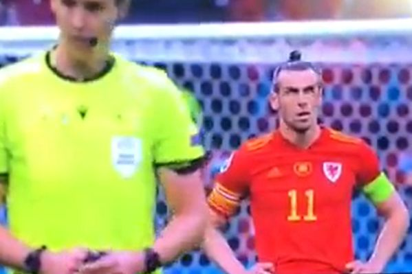 Gareth Bale rolls eyes and swears as VAR decides on 4th Denmark goal against Wales at Euro 2020