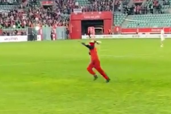 Pitch invader at Poland vs Russia