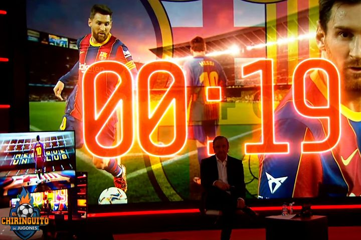 Spanish TV programme El Chiringuito countdown to expiry of Lionel Messi's contract